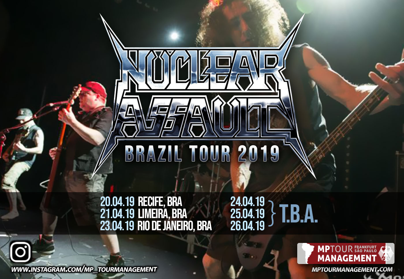 Nuclear Assault Brazil Tour 2019
